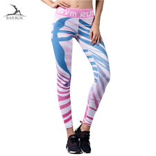 Women GYM Fitness Yoga Leggings Sports Elastic Fashion Pants Slim Running Tights