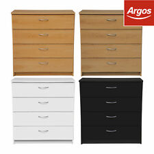 The Collection at Argos Cheval 4Drawer Chest Choice of Beech/Oak/White/Black.