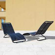 Sarcelles Modern Wicker Patio Chaise Lounges by Corvus (Set of 2)