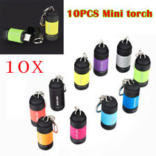 10x USB Rechargeable LED Light Flashlight Mini Torch Waterproof Pocket Keychain