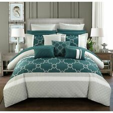 Chic Home 16-Piece Casper King Bed In a Bag Comforter Set Teal