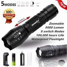 30000LM XML T6 5-Mode Waterproof Zoomable LED Flashlight 18650BTY Torch Lamp TOP