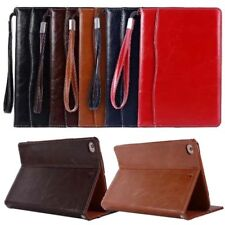 New hand rope slot Leather Magentic Smart Stand Case for ipad  mini 1 2 3 4