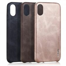 For iPhone X 10 X-LEVEL Ultra Slim Hard Back Leather Classic Phone Case Cover