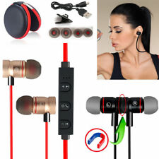 Red -YP56 Magnetic Bluetooth Handsfree Headset Earphone For Cell Phone Lenovo