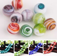 Bulk Lot 5/20pcs 12mm Round Lampwork Glass Loose Spacer Beads Jewelry Making