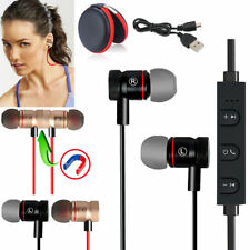 Black -YP56 Magnetic Bluetooth Handsfree Headset Earphone For Cell Phone Sony/LG