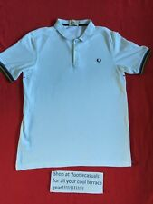 FRED PERRY POLO SHIRT-XL-BRADLEY WIGGINS EDITION-WHITE