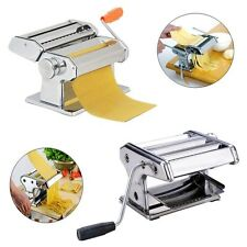 """Pasta/Noodle Maker 7"""" Stainless Steel Making Machine Dough Roller + Handle EH7E"""