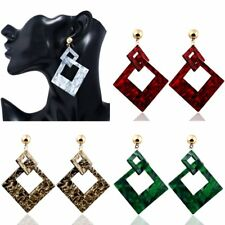 1Pair Women Lady Fashion Geometric Rhombus Drop Dangle Earrings Jewelry Gifts