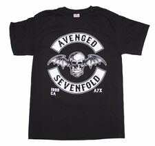 NEW Officially Licensed Avenged Sevenfold Deathbat Crest T-Shirt Thin Rock