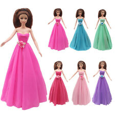 Fashion Princess Dress Strapless Evening Party Gown Clothes For Barbie Doll