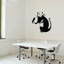 Style and Apply Banky 'Painting Rat' Vinyl Wall Decal