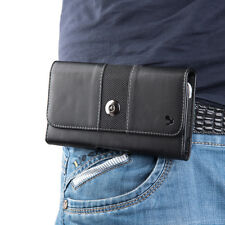 STRONG Magnetic Black Horizontal Belt Clip Holster Pouch Case For Cell Phones