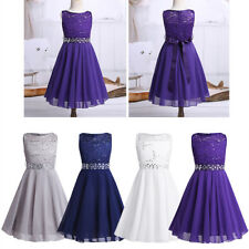 Flower Girl Dress Kid Birthday Wedding Bridesmaid Gown Pageant Formal Dress Baby