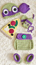 Crochet TMNT Inspired Donatello Ninja Turtle baby Outfit/Costume up to 12 m