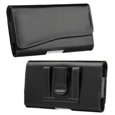 High Quality Black Horizontal Belt Clip Holster Pouch Case Cover For Cell Phones