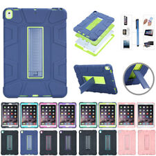 """For Apple iPad 2 3 4 9.7"""" Pro 10.5 Hybrid Silicone Case Cover Protector Stand"""