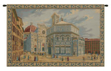 Florence, Duomo e Battistero Firenze Italian Scenery Woven Tapestry Wall Hanging