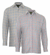 Champion Mens York Country Style Casual Check Long Sleeved Shirt 3075