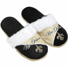 New Orleans Saints Forever Collectibles Ladies Cursive Colorblock Slippers