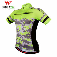 Unisex Summer Bike Jersey Breathable Cycling Shirt Short Sleeve Tops Size XL