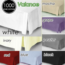 Quality 1000TC Egyptian Cotton Collection Quality Valance Aus Size Multi-Colours