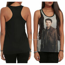 Supernatural Castiel Angel Wing Sublimation Racer Back Tank Shirt Top Hot Topic