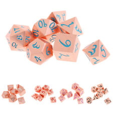 7Pcs Polyhedral Dice d4 d6 d8 d10 d12 d20 Die RPG for Role Playing Game Toy