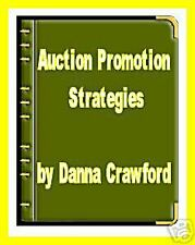 Auction Promotion Strategies with  Resell Ebook  ON CD