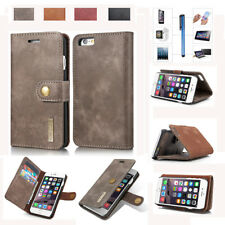 For Apple iPhone Top Genuine Leather Flip Stand Card Wallet Case Cover Protector
