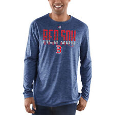 Boston Red Sox Majestic Unstoppable Force Long Sleeve Cool Base T-Shirt - Navy