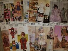 """VOGUE CRAFT & DOLL COLLECTION SEWING PATTERNS ~ UNUSED AND OOP ~ 18"""" DOLLS"""