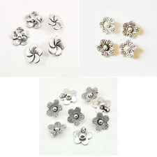 varitions flower ANTIQUE Tibet Silver alloy Spacer charm beads 13mm USA BY EUB
