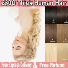 Real Thick Full Head 12PCS/SET Clip in Human Remy Hair Extensions Fast Shipping