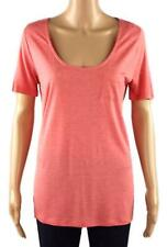 NEW EX NEXT ORANGE MARL VISCOSE JERSEY SLUB TEE T SHIRT TOP 8 10 12 14 16 18 22
