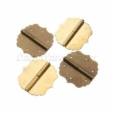 2Pcs Chinese Traditional Retro Furniture Brass Hardware Box Trunk/Cabinet Hinges