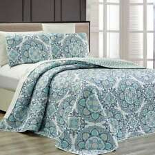 Fashion Street Infinity Quilted 3-piece Bedspread Set