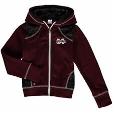 Mississippi State Bulldogs Colosseum Girls Youth Scaled Full Zip Hoodie - Maroon