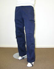 Mens Trade Wear Work  Pants Navy Blue Casual Comfort Outdoor Camping Cargo Pants