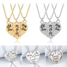 3Pcs Letters Sis/MOM/Best/Friends/Forever Pendant Necklace Mother's Day Gift New