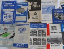 Norwich City Away Programmes 1960/61 to 1965/66. Good Choice.