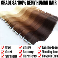 Tape In Hair Extension 100% Human Hair Straight Remy Brazilian Hair Extensions