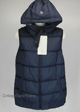 NEW LULULEMON Chilly Chill Puffy Vest 8 10 Reversible Goose Down Inkwell NWT