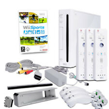 Nintendo Wii Console Red Black White + Accessories Package & Game