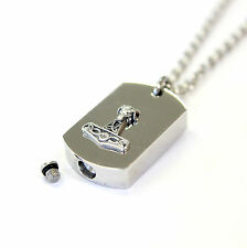 Mjolnir Rams Head Thors Hammer Necklace Cremation Urn Pendant Memorial Ashes 244