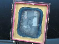 Civil War 6th Plate Daguerreotype Man & Woman She Has Pink Bow Holding a Book