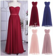 Women Long Formal Prom Wedding Dress Cocktail Party Gown Evening Bridesmaid 4-16