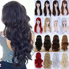 Popular Women Ladies Halloween Long Curly Wave Synthetic Hair Costume Full Wig