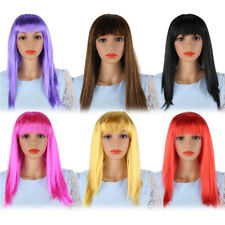 Women Ladies Long Wavy Straight Wig Fantacy Cosplay Party Halloween Full Wigs Jk